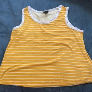 Yellow striped Rue 21 tank top